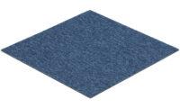 Quebec blå - textilplatta