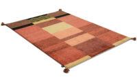 Moder Jord röd - handknuten matta