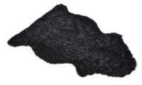 Lockigt fårskinn - mörkgrå