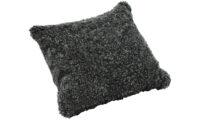Lockig fårskinnskudde - mörkgrå