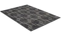 Opal antracit - handknuten matta