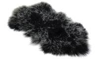 Shansi fårskinn - svart snowtop