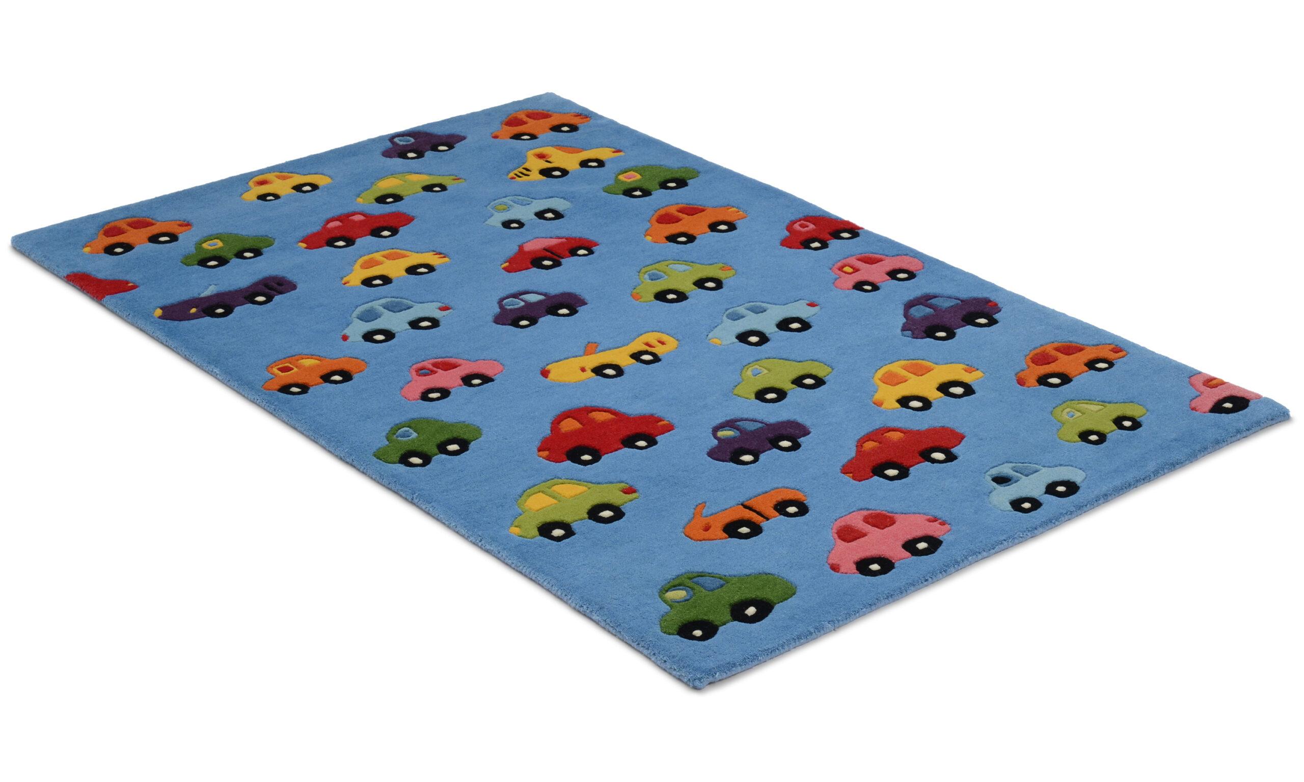 Cars blå - barnmatta