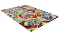 Butterflies vit - Handtuftad matta