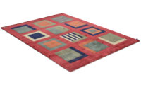 Sandö röd - handknuten matta