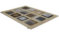 Sandö beige - handknuten matta