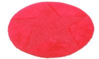 Star röd - badrumsmatta
