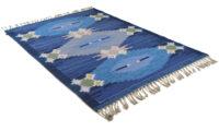 Örbyhus blå - handvävd ullmatta