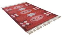 Örbyhus röd - handvävd ullmatta