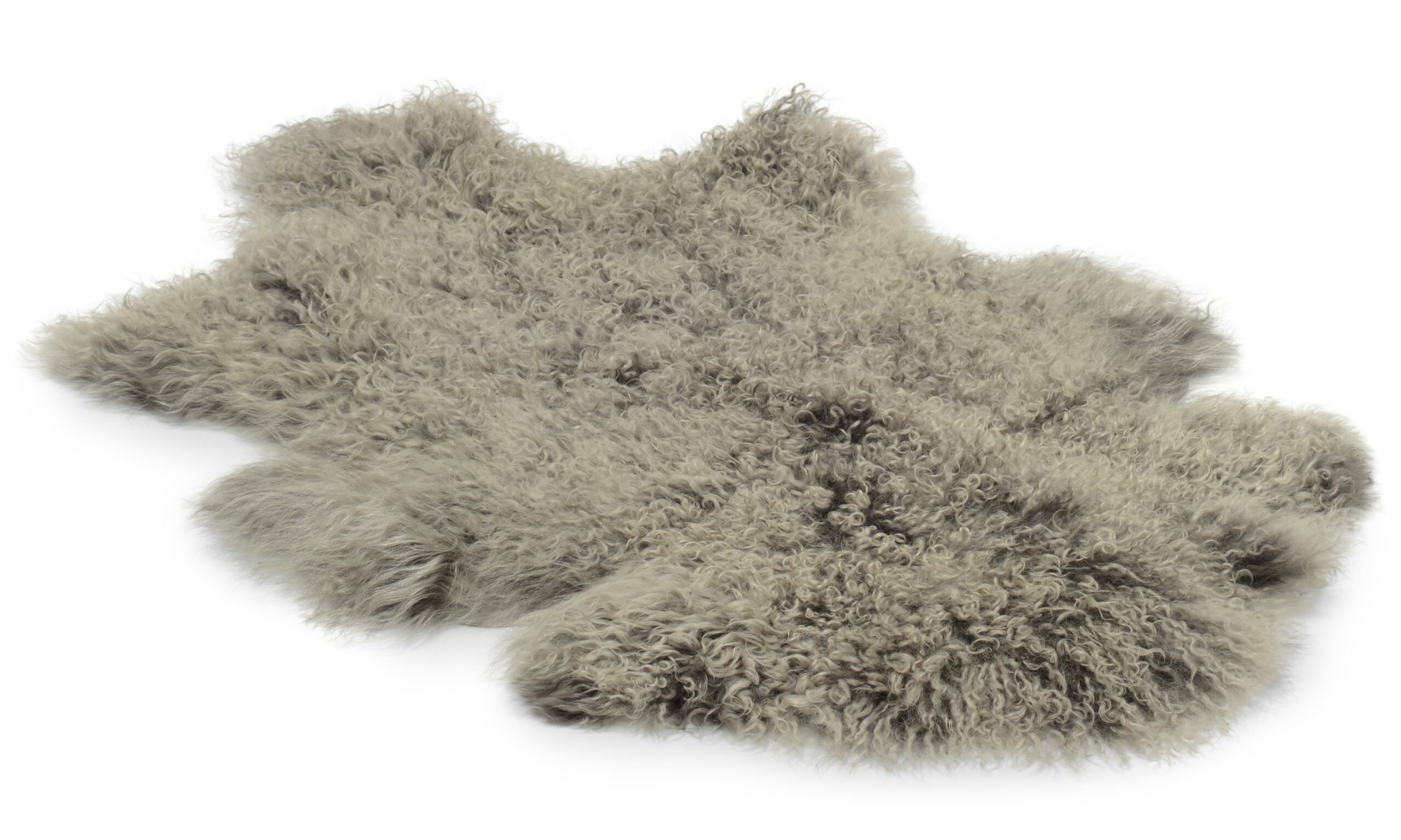 Shansi fårskinn - grå silvertop