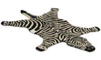 Zebra svart/vit - handtuftad matta