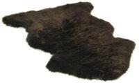 Långhårigt fårskinn - mörkbrunt