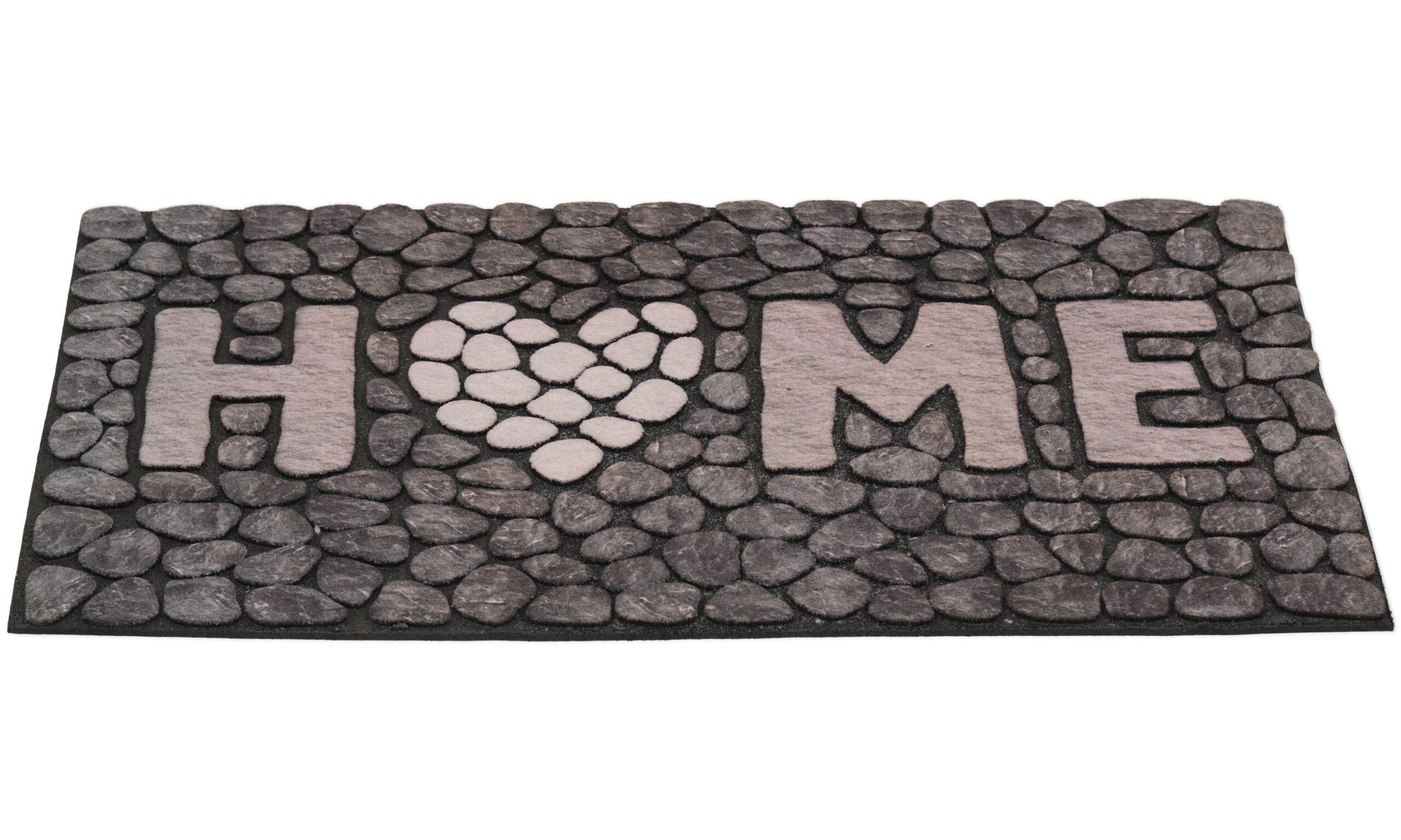 Home stone grå - dörrmatta