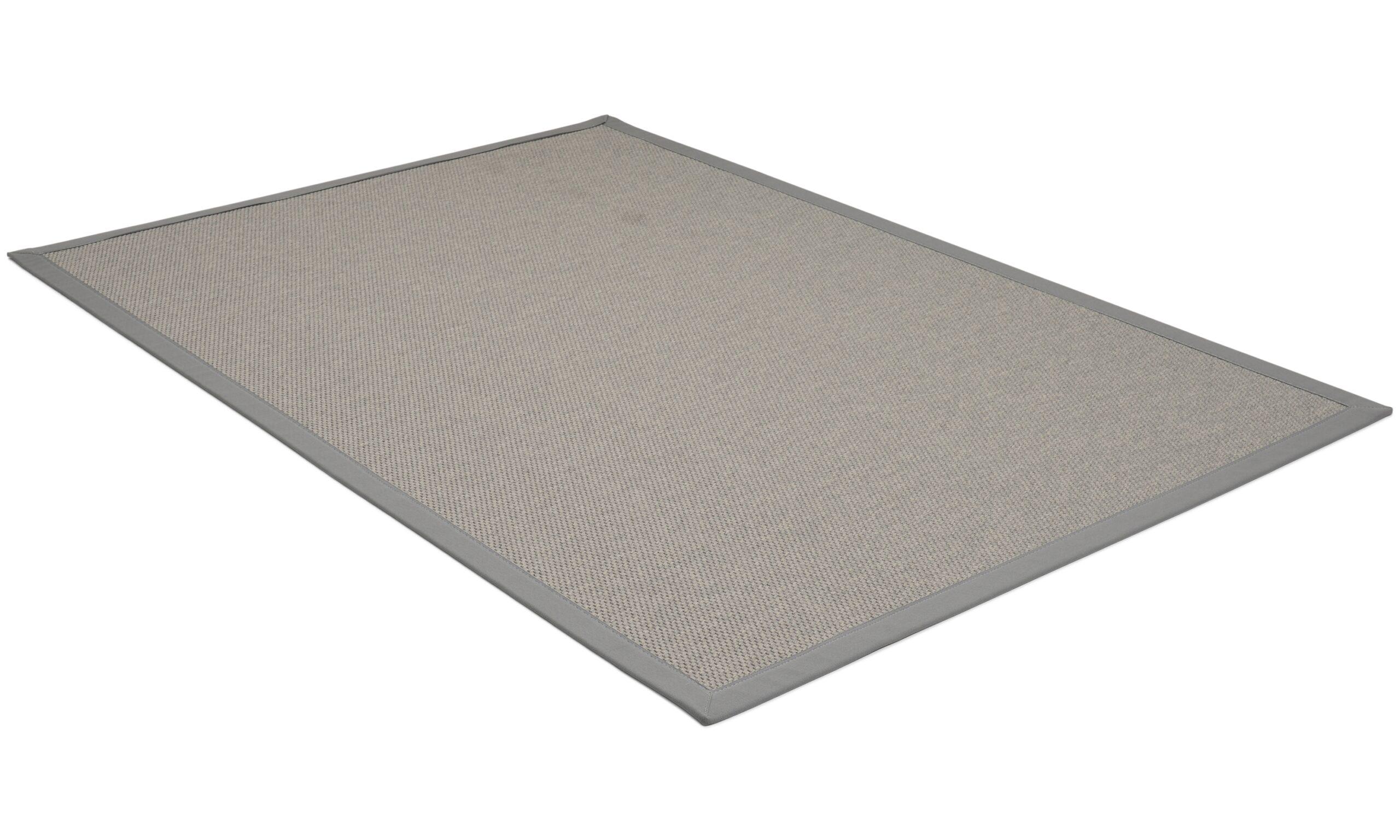 Rustik mörkgrå - flatvävd matta