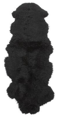 Dubbelt långhårigt fårskinn - 10299 svart