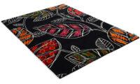 Makak svart - handknuten matta