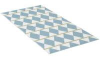 Zigge blå - plastmatta