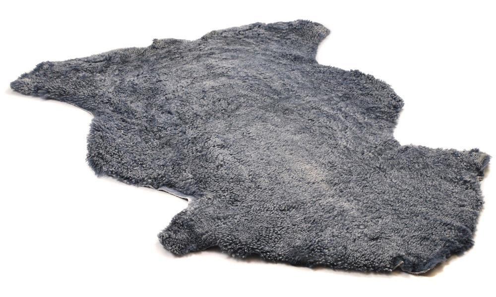 Lockigt fårskinn - silvergrått
