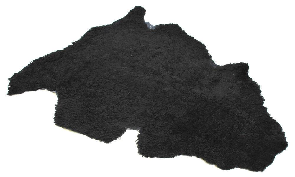 Lockigt fårskinn - svart