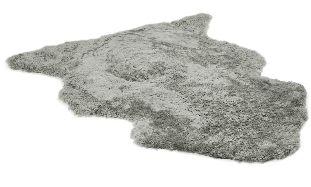 Lockigt fårskinn - naturgrått