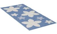 Flower blå - plastmatta