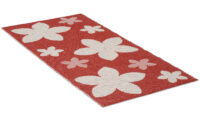 Flower röd - plastmatta