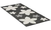 Flower svart - plastmatta