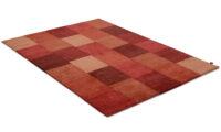 Lumbini röd - handknuten matta