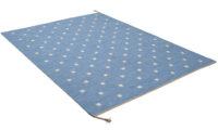 Rosendal ljusblå  - handvävd ullmatta