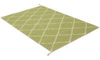 Östanå ljusgrön - handvävd ullmatta