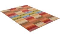 Napoli multi - handvävd matta med lugg