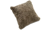 Lockig fårskinnskudde - sahara