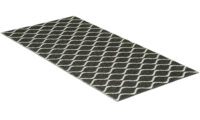 Wave svart - plastmatta