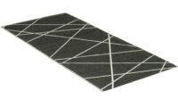 Line svartvit - plastmatta