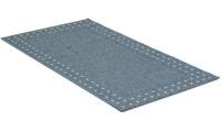 Rut blå - flatvävd matta
