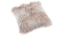 Shansi fårskinnskudde - beige snowtop