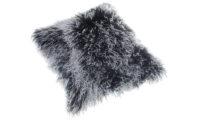 Shansi fårskinnskudde - svart snowtop