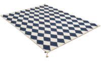 Harlequin mörkblå - handvävd ullmatta