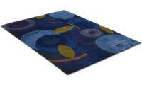 Blåbär - handknuten matta