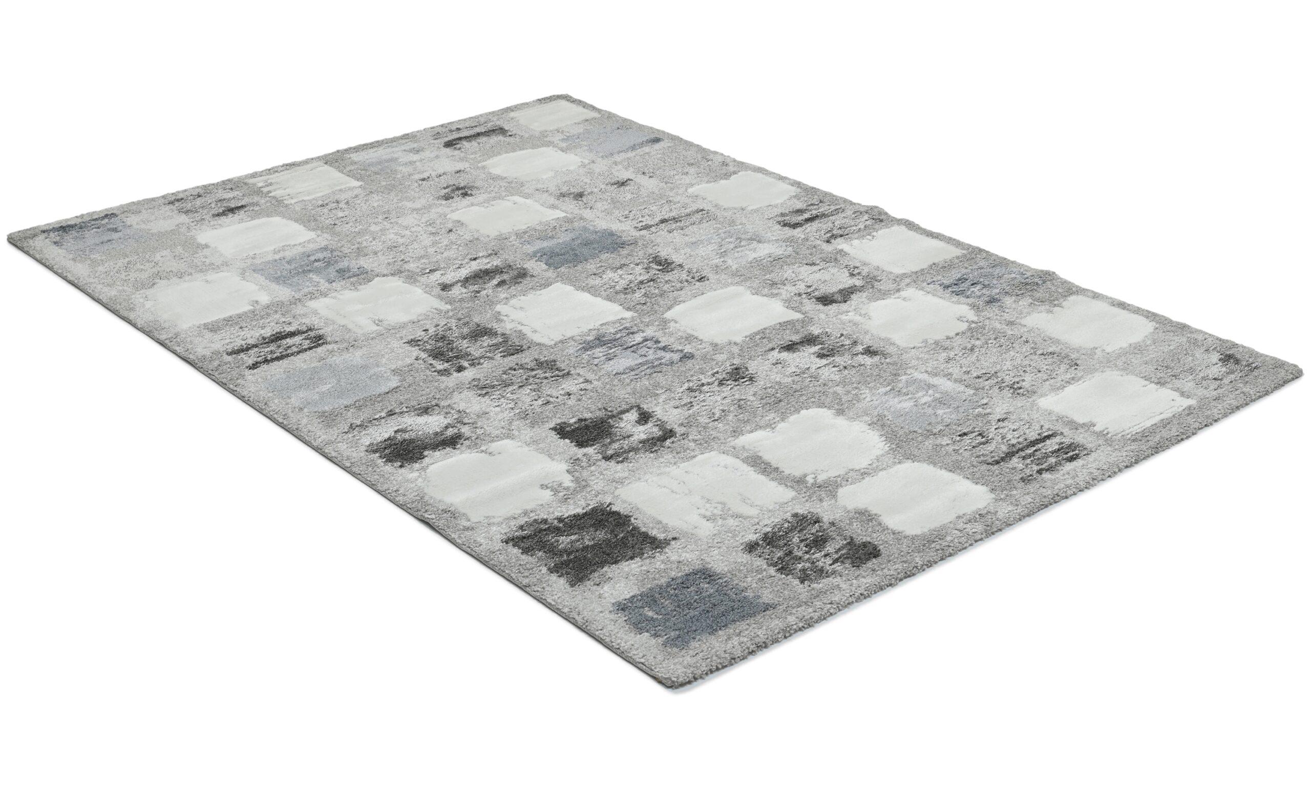 Century Square blå - maskinvävd matta