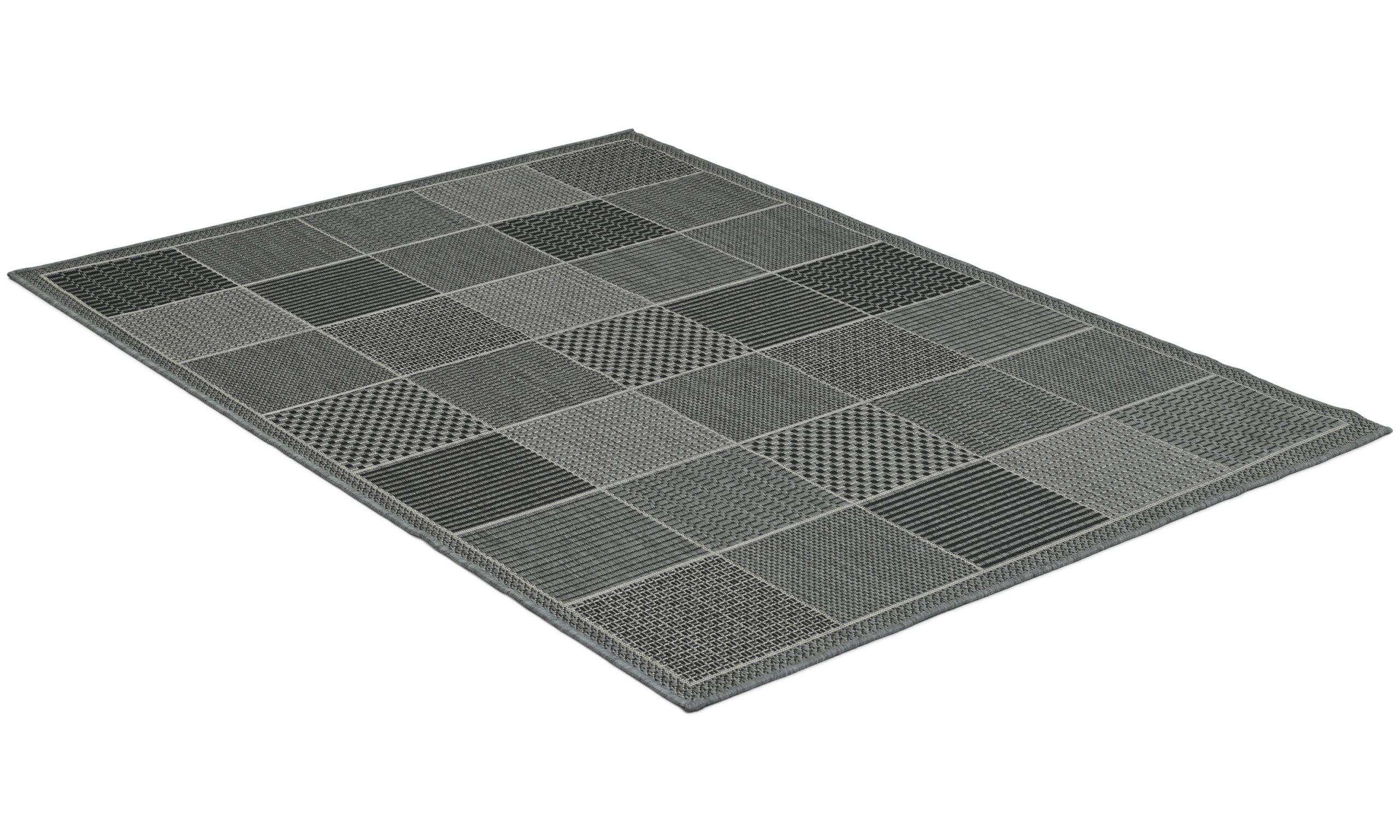 Taverna grey/black - flatvävd matta