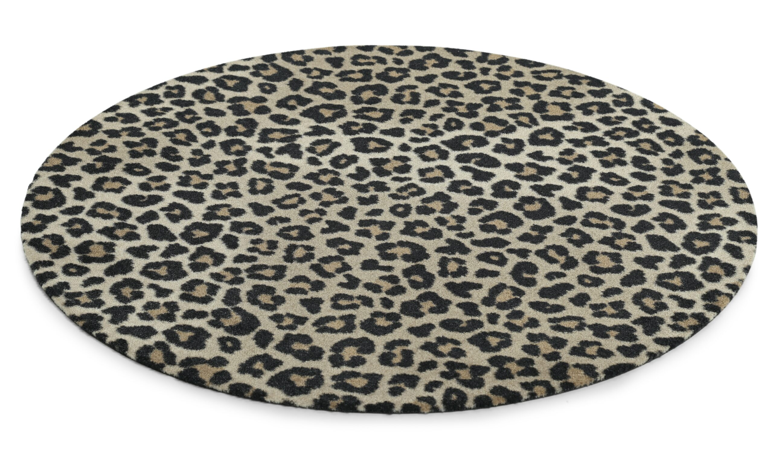 Leopard rund - multifunktionsmatta