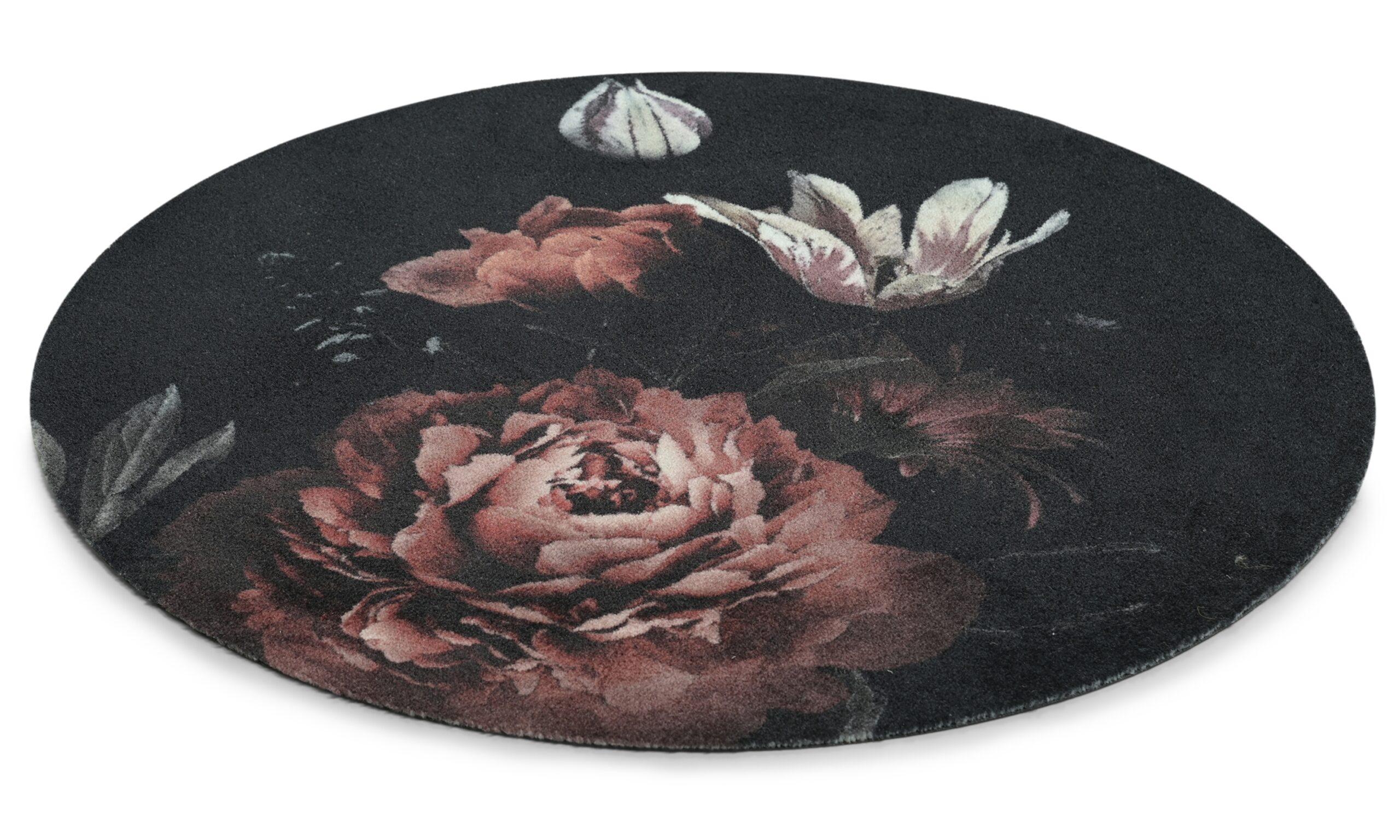 Bella rosa rund- multifunktionsmatta