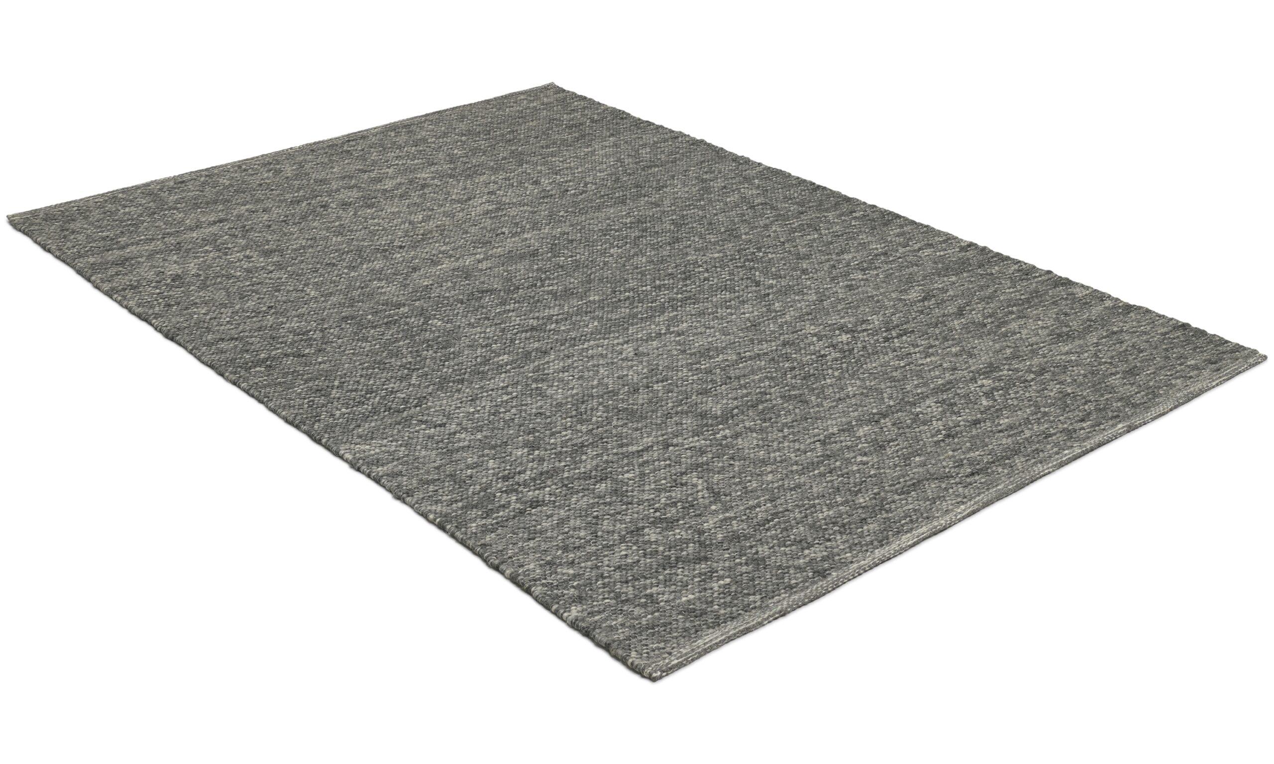 Kalix mörkgrå - handvävd ullmatta