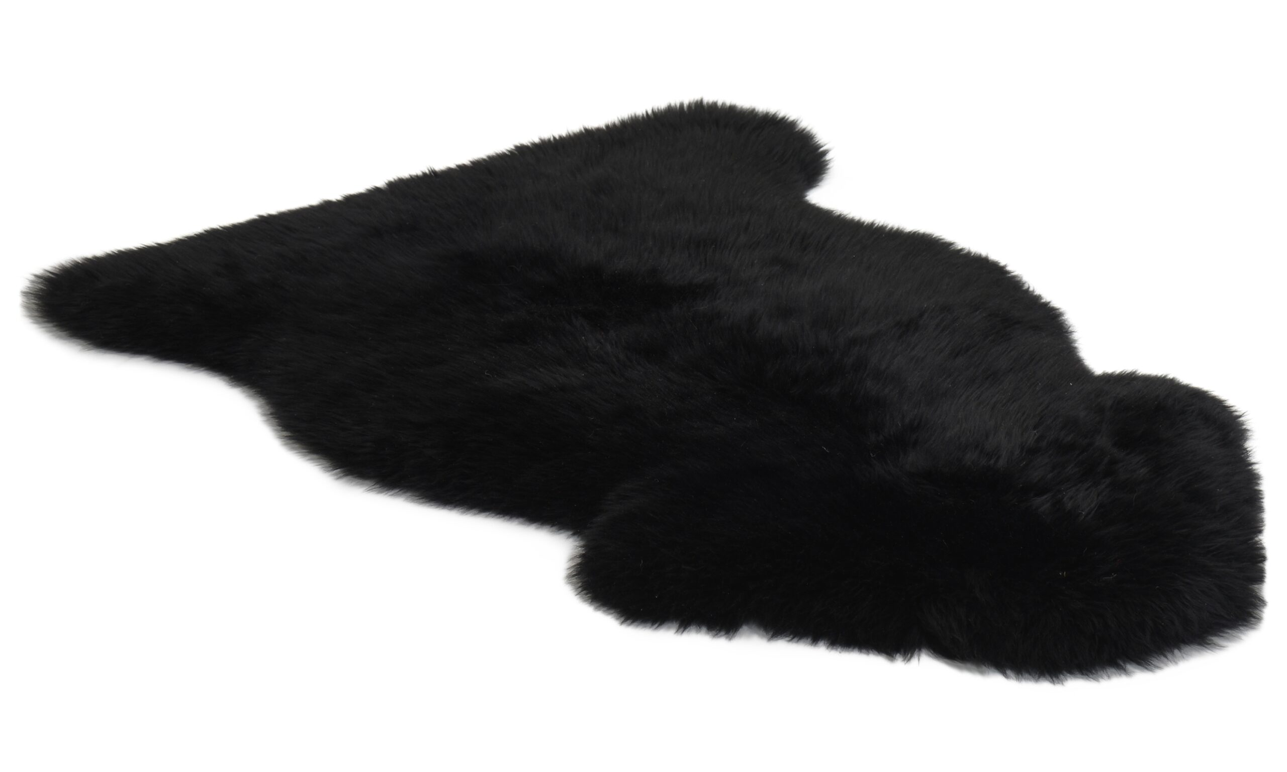 Långhårigt fårskinn - svart