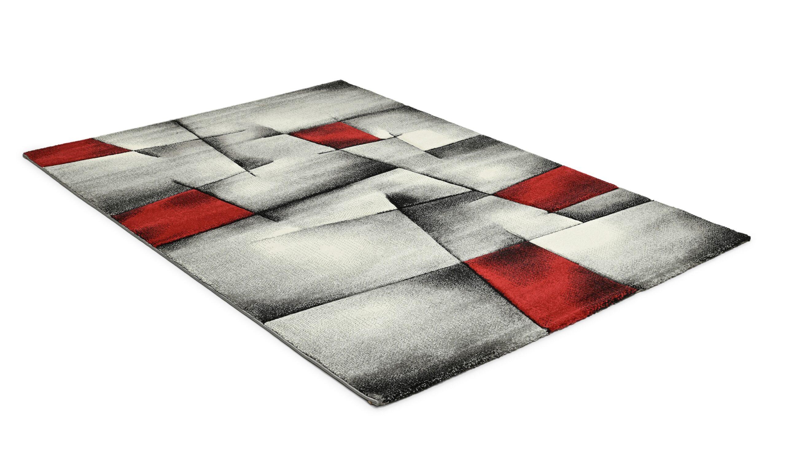Lucara trend röd - maskinvävd matta
