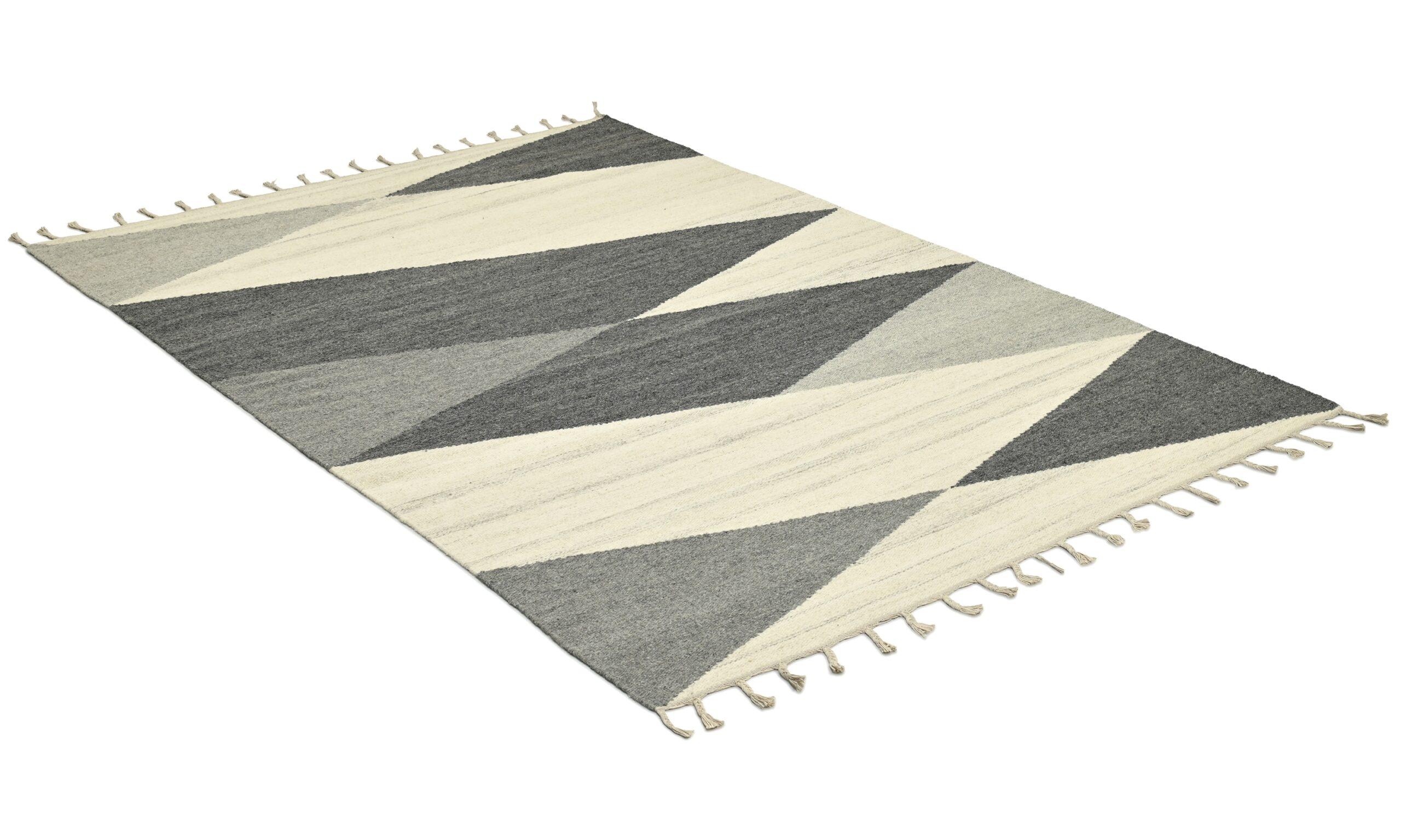 Tamazama grå - handvävd ullmatta